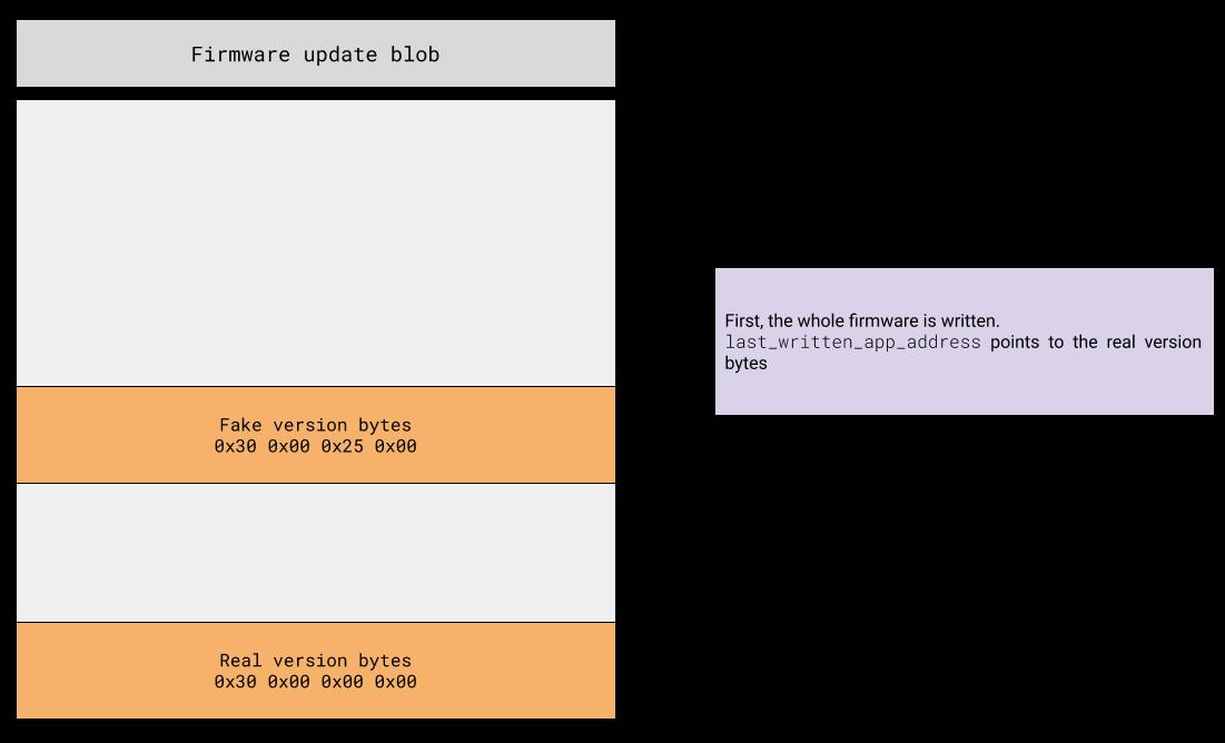 Firmware downgrade step 1